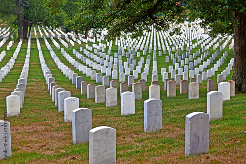 Foto op Canvas Begraafplaats Headstones at the Arlington national Cemetery