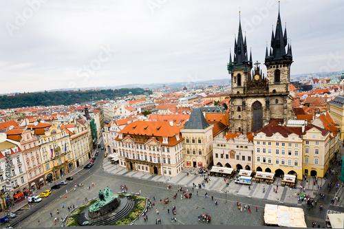 Staande foto Praag Templo Tyn desde la Torre del Antiguo Ayto (Praga) - Toma 1