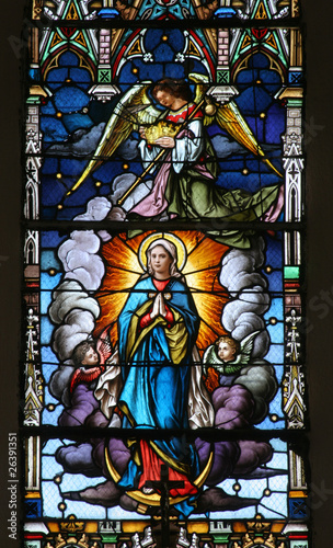 Poster Stained Assumption of the Virgin Mary