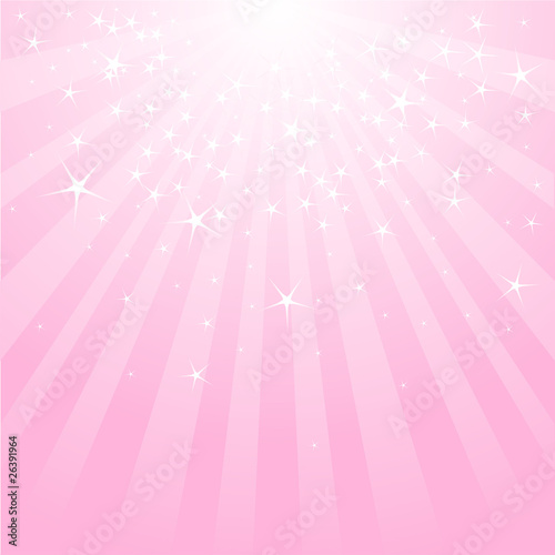 Printed kitchen splashbacks Fairytale World Abstract pink stars and stripes