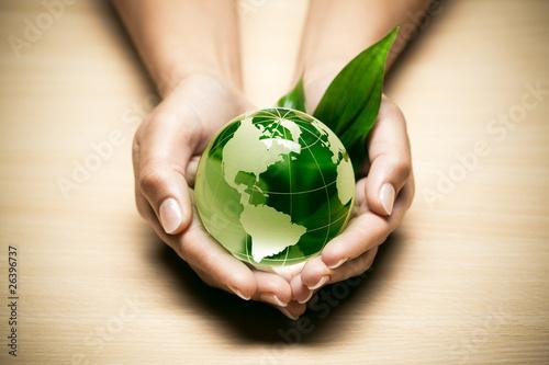 Obraz concept écologie planète terre verte - fototapety do salonu
