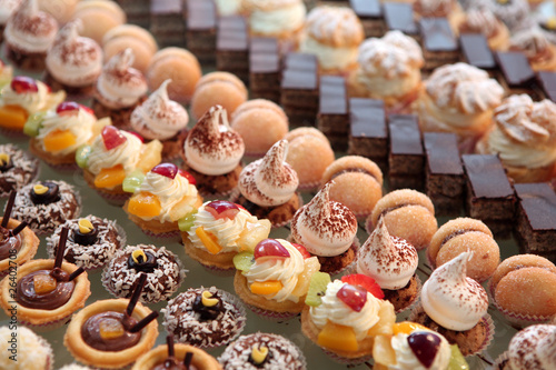 Canvas Print Diversity of pastry