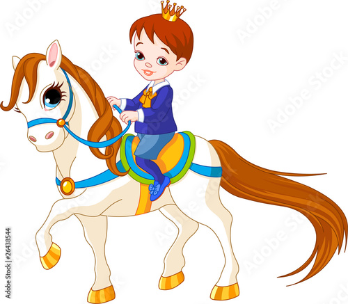 Little prince on horse