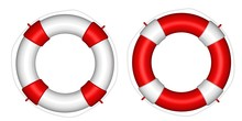 White And Red Life Buoy