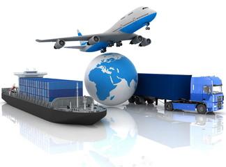 Fototapeta types of transport of transporting are loads.