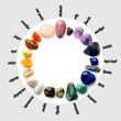 canvas print picture - Gems color spectrum with names