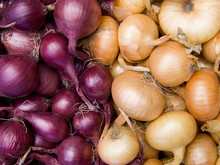 Red And White Onions Background