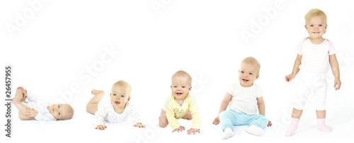 Fotografie, Obraz  vom baby zum kleinkind