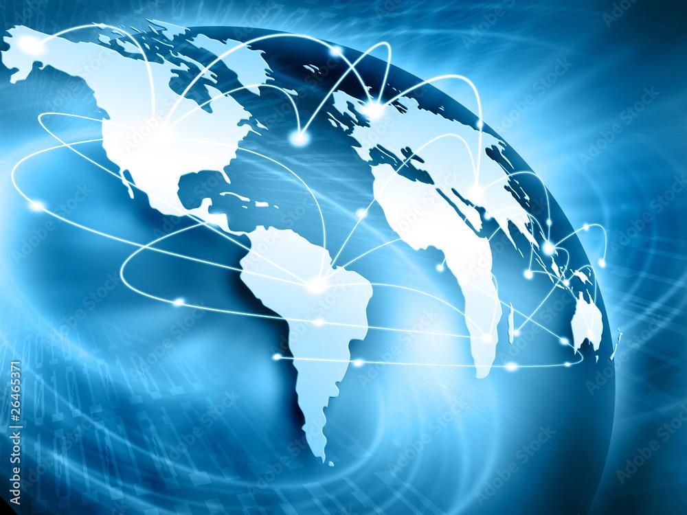 Fototapety, obrazy: Najlepsza koncepcja Internetu globalnego i biznesu