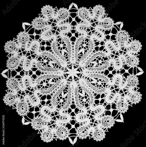 Valokuvatapetti white doily with lace