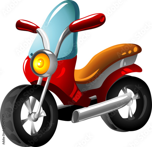 Poster Motocyclette Cartoon motorcycle