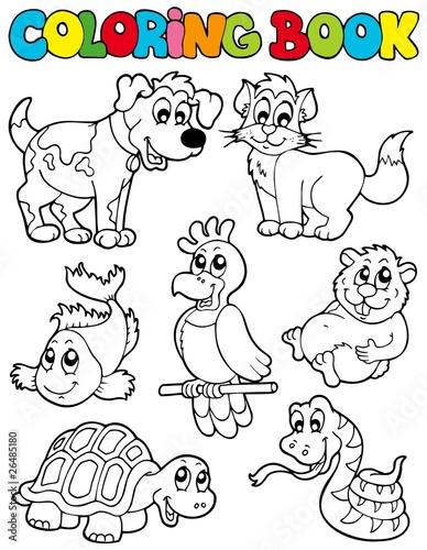 Türaufkleber Zum Malen Coloring book with pets 2