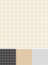 Woven Cane Outline - Seamless Pattern
