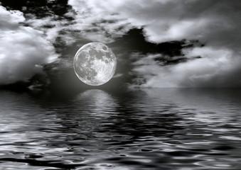 Fototapeta Popularne Full moon image with water