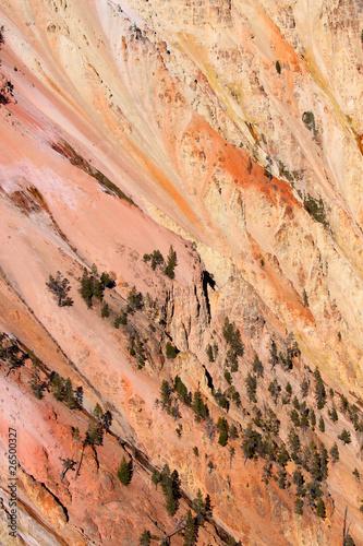 Obraz na plátně  Red rock hill slope