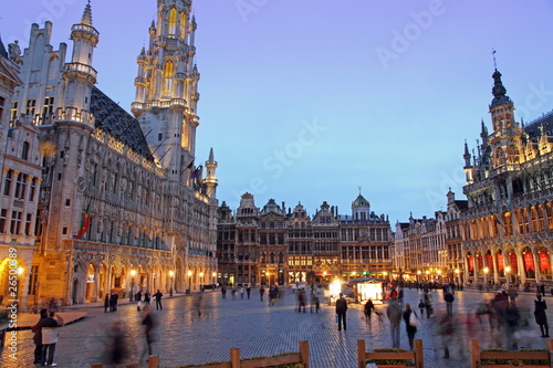 Foto op Canvas Brussel Grand Place, Grote Markt, Brussels, Belgium, Europe