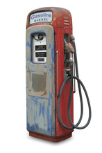 Old Gas Pump, Isolated With Cl...