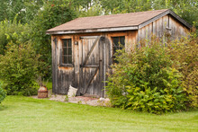 A Charming, Rustic Garden Shed...