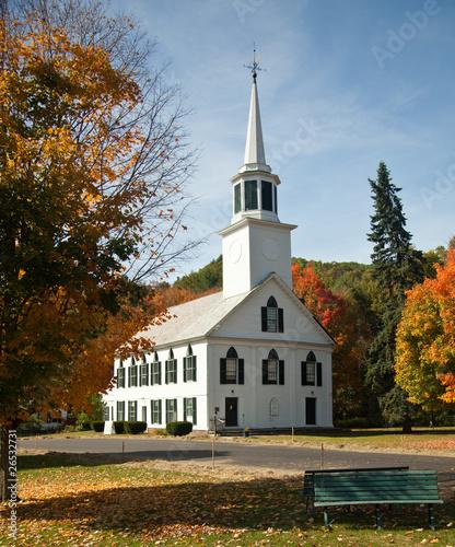 Townshend Church in Fall