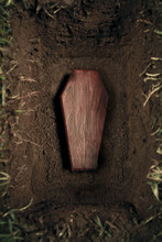 Coffin Or Tomb At Graveyard