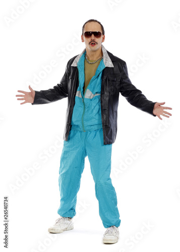 Pimp, wearing a retro tracksuit and leather Fototapet