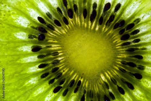 Spoed Foto op Canvas Plakjes fruit leuchtende Kiwi