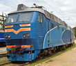 old locomotive on railway station