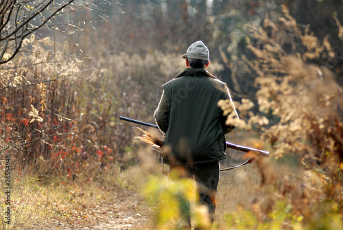 Caccia: cacciatore di fagiani Canvas Print