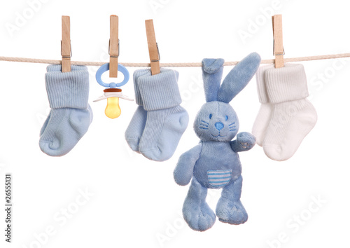 Fotografía  Baby goods hanging on the clothesline