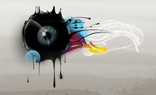 Human Eye With Abstract Elemen...