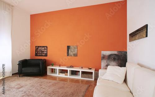 Fotografie, Obraz  un interno di appartamento moderno
