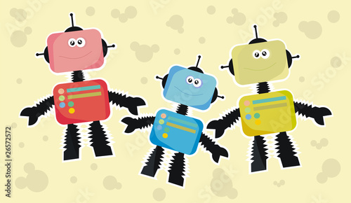 Fotografía  robot family (children's theme)