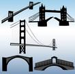 bridges collection - vector