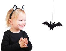 Toddler Girl In Black Cat Costume