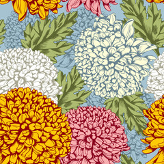 Obraz Excellent seamless pattern with chrysanthemum