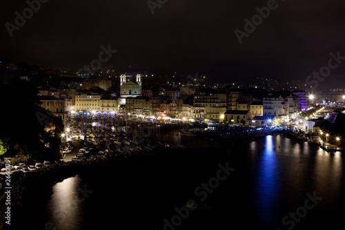 Stickers pour porte Ville sur l eau Vieux port et Cathédrale de Bastia en Corse