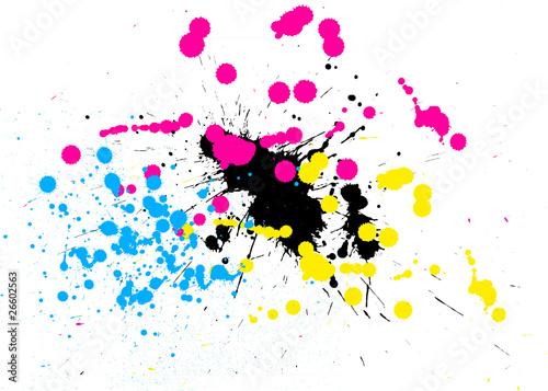 Valokuva  Tâches de peinture en CMJN