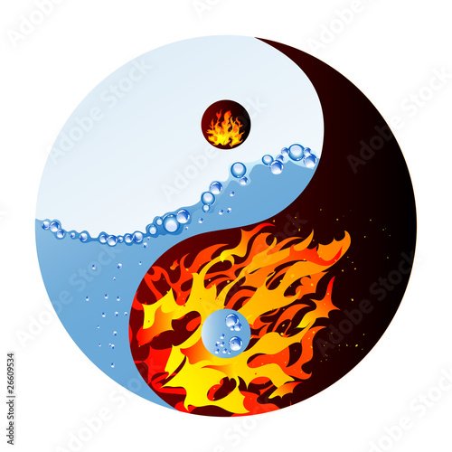 Photo  Fire and water