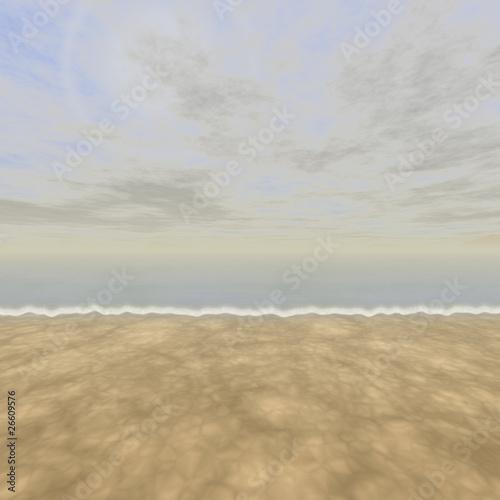 Poster de jardin Desert de sable beach