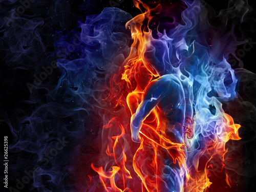 Poster Flamme Fire couple