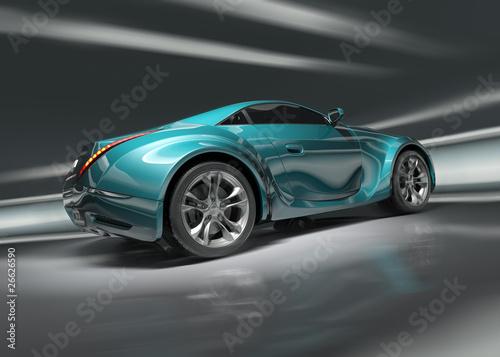 Fototapeta Sports car. Original design. obraz na płótnie