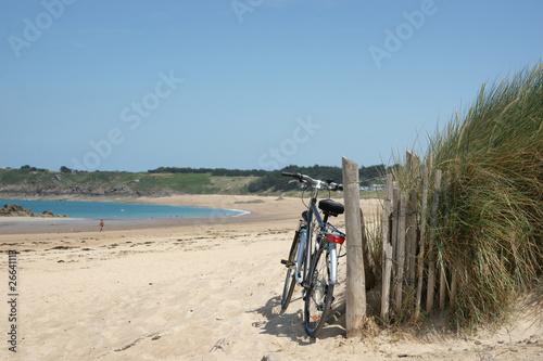 Foto op Plexiglas Fiets paysage plage 51