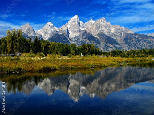 Photo Stands Reflection Grand Tetons