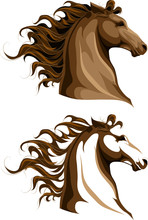 Two Horses Heads