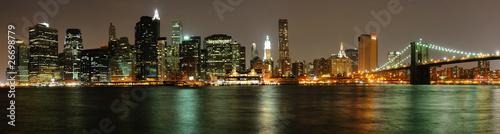 Fototapeta miasto widok-na-manhattan-z-brooklynu-w-nowym-jorku