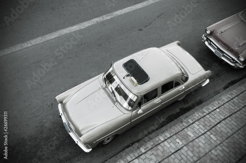 Türaufkleber Autos aus Kuba Vintage Car