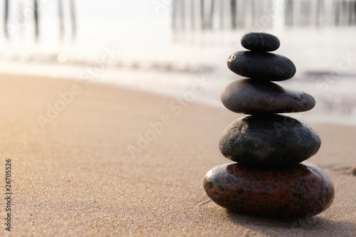 Photo sur Plexiglas Zen pierres a sable Zen Stones