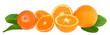 Orange and tangerine slices.