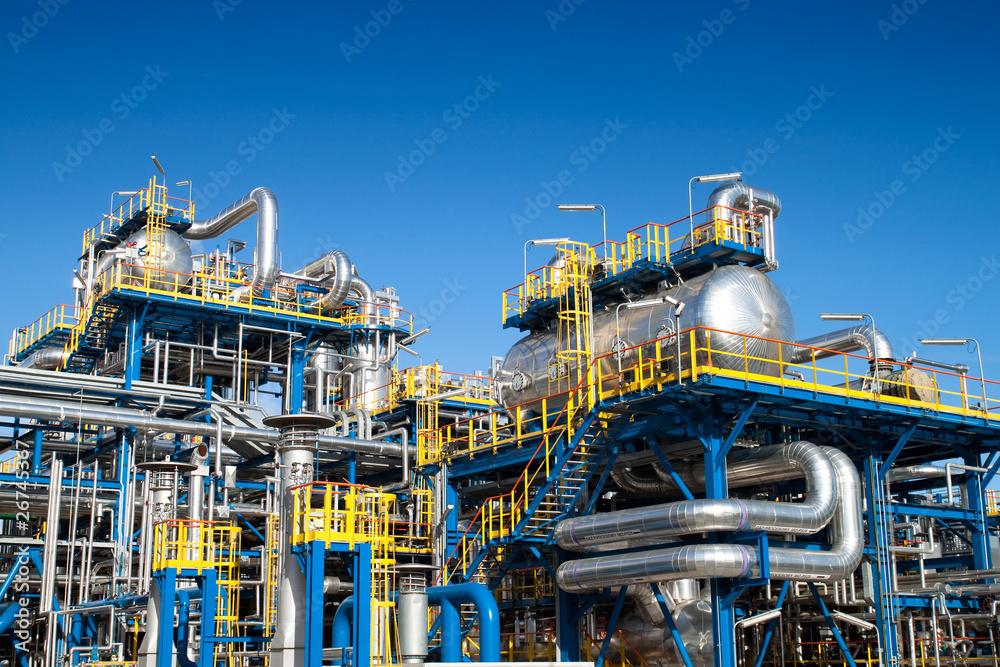Fototapety, obrazy: Oil industry equipment installation