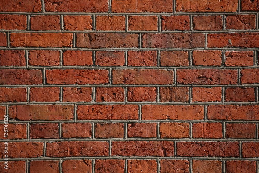 Fototapeta czerwony ceglany mur